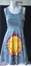 Organic tie dye dress handmade in USA one of a kind unique 100% cotton Hippy 60s
