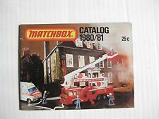 Matchbox Lesney 1980/81 Collector's Catalog - Very Near Mint Condition