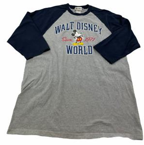 Vintage Disney Shirt Adult Extra Large Gray Blue Walt Disney World  Theme Mens