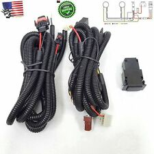 Fog Light Wiring Harness Relay Kit ON/OFF Switch H8 H9 H11 2 Plugs Wire 12V 30A