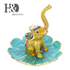 Elephant Jewelry Display Plate Figurines Ring Holder Valentine Gift Table Decor