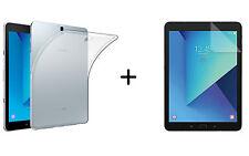 TPU Silikon Case für Samsung Galaxy Tab S3 SM T820 T825 9,7 + Schutzfolie Film