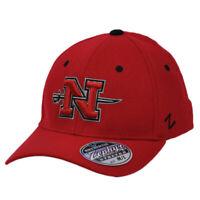 NCAA Zephyr Nicholls State Colonels Flex Fit Medium Large Hat Cap Red Stretch