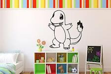 Charmander Pokemon Wall Art Vinyl Decal Sticker Removable Cartoon Character Catc