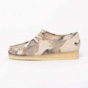 BNWT Women's CLARKS ORIGINALS WALLABEES Off W Camouflage Suede Shoes UK 3.5 £140