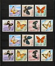 (YYAZ 650) Vietnam 1987 IMPERF + Perf NH Mich 1802 -8 Scott 1693 -9 Butterflies