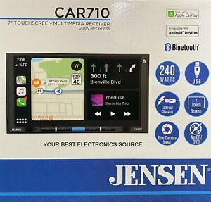 NEW Jensen CAR710 2-DIN Digital Media Car Stereo, Apple CarPlay & Android Auto