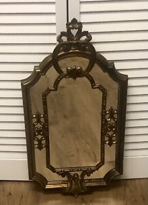 *Vintage Carved MIRROR GOLD ITALY Antique ORNATE Wall ITALIAN Large Eurarchi