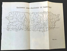 Original 1901 Waterways adn Altititudes of Puerto Rico Map J.R. Shettel