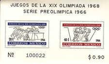 Mexico 1966 Pre Olympics 2 Souvenir Sheets-Juegos Olimpicos Mexico 1968- WW7328