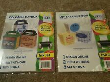 Zumibox takeout gift boxes and Gable Top 24 blanks customize pre cut box blanks