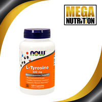 NOW Foods L-Tyrosine 500mg 120 Capsules Supplement | Supports Focus Stress Mood