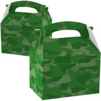 Army Force Camouflage Birthday Party Card Favours Loot Boxes - Pk of 8 997421/8