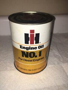 Vintage IH International Harvester Tractor Oil 1 Quart Can-FULL/NOS