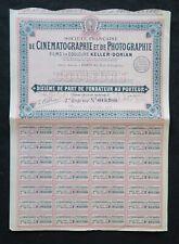 Action 1928 Sté FRANCAISE CINEMATOGRAPHIQUE PHOTOGRAPHIQUE titre bond share 4