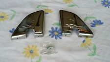 Honda SH 125 150 rear foot pegs cover protectors cover stainless steal chrome.