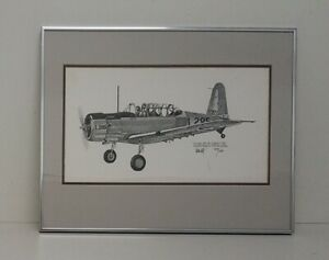 Joe Milich Vultee BT-13A Ltd Ed Print Framed 20x16