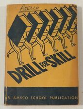 Drill for Skill, An Amasco School Publication, vintage 1946, softcover, Rickett