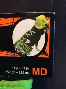 Dog Green Frankenstein Witch Halloween Costume - New Size MD