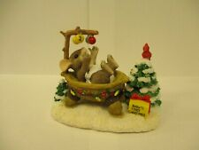 """Squashville Baby's First Christmas� Charming Tails mouse figurine Nib 1997"