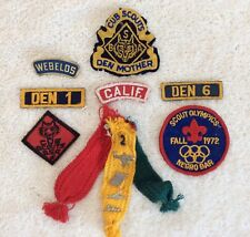 Vintage Boy Scout Badges Patches and Pins Mixed Lot of 13