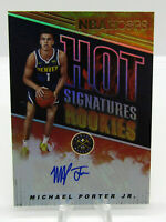 Panini 2018-19 NBA Hoops Hot Signatures Rookies Michael Porter Jr Nuggets Rookie