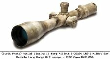 Millett 6-25x56 LRS-1 MilDot Bar Reticle Long Range Riflescope - ATAC : BK81005A
