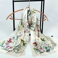 Ladies Soft Pashmina Womens 100% Pure Silk Scarves Long Stole Shawl Wrap Scarf