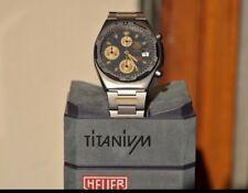 NOS Tag Heuer mechanical chronograph quartz cronografo meccanico titaniumvintage