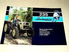 Prospectus Tracteur LAMBORGHINI 235 Tractor Traktor Trattori  Brochure Prospekt