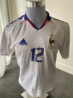 2002 France Adidas Away Jersey Vintage Henry Football