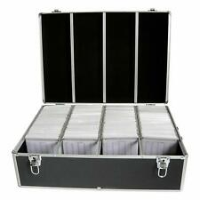 1 Mediarange Aluminium BLACK 1000 CD DVD DJ Flight storage case numbered BOX74