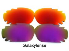 Galaxy Replacement Lenses For Oakley Racing Jacket Red&Purple Polarized 2Pairs