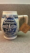 1981 NUMBERED #924 CERAMIC ARROW SCHNAPPS OKTOBERFEST STEIN TANKARD