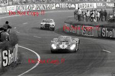 GURNEY & Foyt Shelby American FORD GT40 Vincitori Le Mans 1967 fotografia 2