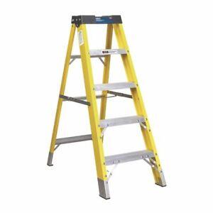 Sealey FSL5 Fibreglass Step Ladder 4-Tread EN 131