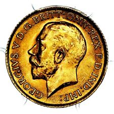 1914 King George V Great Britain Gold Half 1/2 Sovereign PCGS MS65