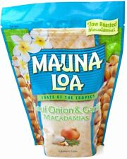 MAUI ONION & GARLIC MAUNA LOA MACADAMIA NUTS 10 OZ BAG