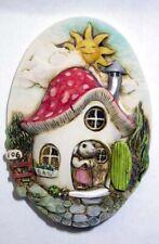 Harmony kingdom art Neil Eyre Designs Mouse Mice Button Mushroom House magnet