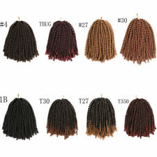 3 Pack 8 Inch Twist Ombre Crochet Braids Synthetic Braiding Hair Extensions New
