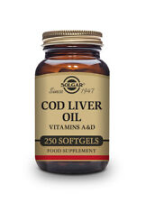 Solgar Cod Liver Oil With Vitamin A and D - Softgels - Pack of 250
