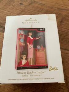 Hallmark Keepsake Ornament 2012 Student Teacher Barbie 1965 MIB in Class