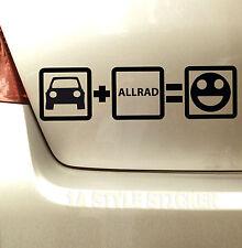 Auto Allrad Fun Aufkleber Allrad 4motion syncro 4x4 Aufkleber quattro 719