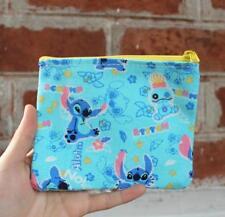 Disney stitch blue canvas coin bag handbag money storage bag bags new