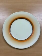 "CLARICE CLIFF ART DECO NEWPORT POTTERY 8""-WIDE SIDE PLATE (CC10)"