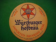 GERMAN Beer Coaster Mat ~*~ WURZBURGER; Brewed by Würzburger Hofbräu Since 1643