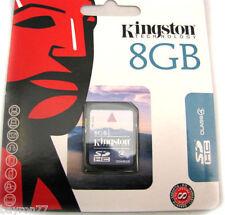 KINGSTON SD 8Gb memoria SDHC SPEDIZIONE ASSICURATA! Garanzia a vita