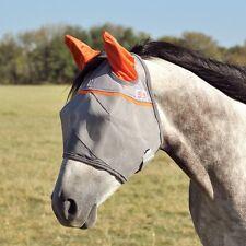 CASHEL ORANGE CRUSADER PASTURE FLY MASK #1 Equine RATED HORSE standard with Ears