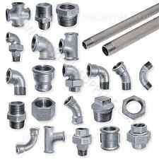 EE GALVANISED MALLEABLE IRON PIPE FITTINGS BSP WATER STEAM AIR GAS GALV TUBE