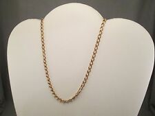 "NOS Vintage 24"" Yellow Gold Tone Curb Chain Necklace    S70"